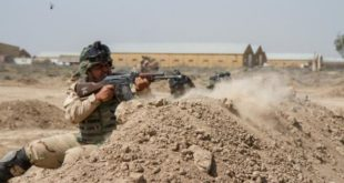 Iraqi soldiers train with members of the 3rd Brigade Combat Team, 82nd Airborne Division, at Camp Taji, Iraq