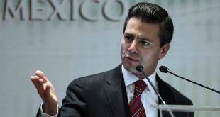 Former Mexico state governor Pena Nieto, a potential presidential candidate for the opposition PRI, speaks during an event in Mexico City