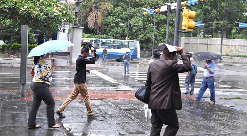Lluvias en Venezuela.
