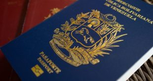 "The blue Mercosur Venezuelan passport is displayed for a photograph in Caracas, Venezuela, on Thursday, Feb. 23, 2017. Of all the shortages that plague Venezuela today -- of food and medicine, even money -- the lack of passports is in some ways the cruelest. The reason the passport agency, known as Saime, has given for the shortfall is that it doesn't have enough ""materials."" Photographer: Manaure Quintero/Bloomberg via Getty Images"