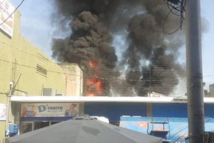 Incendio en el centro de Barquisimeto