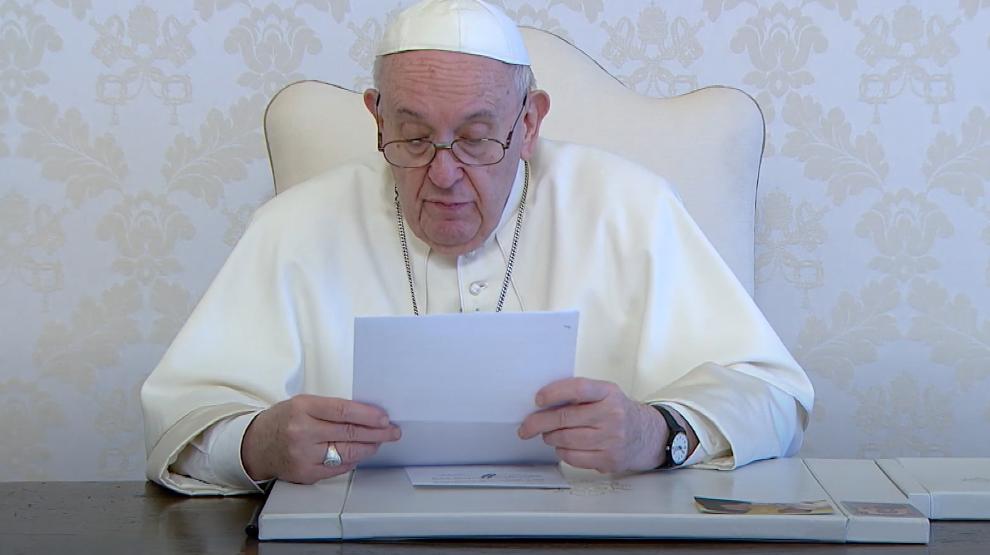 Papa Francisco durante su mensaje en ocasión de la Beatificación de JGH / Foto: Captura de Pantalla